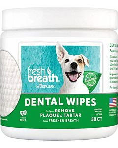 Fresh Breath Dental Wipes - 50 Count