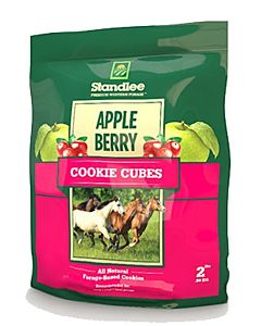 Standlee Hay Horse Treats Apple Berry Cookie Cube 2-Lb. Bag
