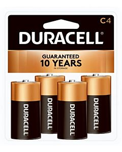 Duracell C Batteries, 4/Pack