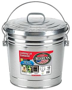 Galvanized Steel Trash Can - 10 gal