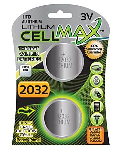 2 Pack Cellmax Long Lasting 3Volt Lithium Battery