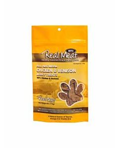 Real Meat Jerky Treat - Chicken/Venison, 4 oz