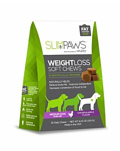 Slimpaws Weight Loss Soft Chews - 30 Count, Medium