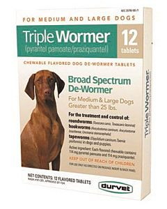 Triple Wormer 12Ct Medium&Large Dog