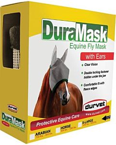 Horse Fly Mask - Gray, High Neck
