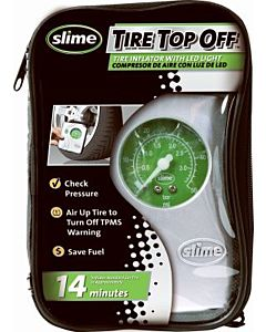 Tire Inflator + Led Light 12-Volt