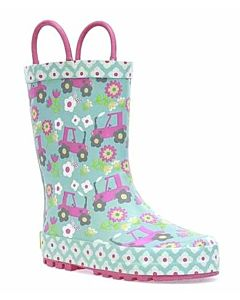 Kids Floral Farm Rain Boot