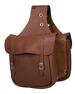 Leather Saddle Bag - Brown