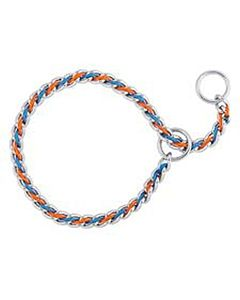 "Laced Chain Slip Collar 22"" - Blue
