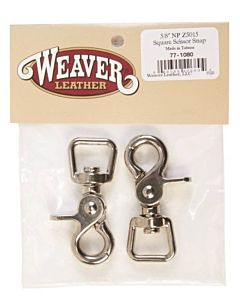 Square Scissor Snaps - Nickel Plated, 5/8""