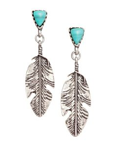 Women's Silver Feather Earring - Nickel|Lead