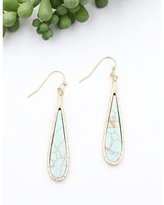 Women's Gold Turquoise Earring - Nickel|Lead