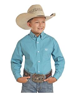 Boys Button Down Long Sleeve Shirt