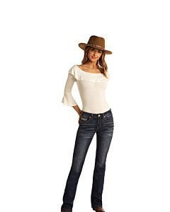 Women's Mid Rise Emblem Boot Cut