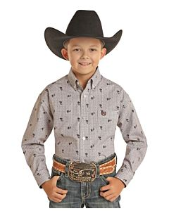 Boys Long Sleeve Button Down Shirt