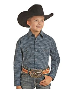 Boys Snap Long Sleeve Shirt