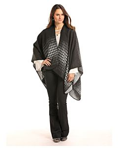 Women's Long Sleeve Cape - Black, One Size Fits All