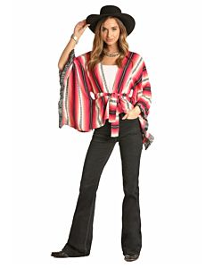 Women's Belted Poncho