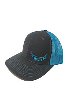 Snapback - Charcoal/Neon Blue, One Size Fits All