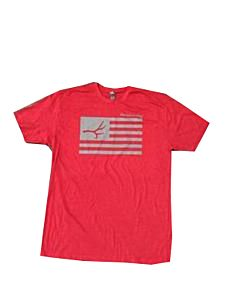 Men's Red Freedom Flag Shirt