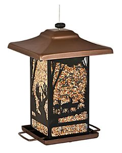 Wilderness Lantern Bird Feeder - Brown