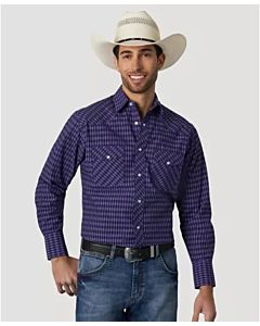 Men's Long Sleeve Western Print Shirt
