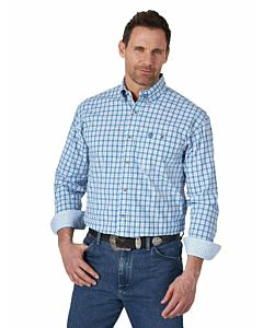 Men's 2 Pocket George Strait Long Sleeve Plaid Shirt