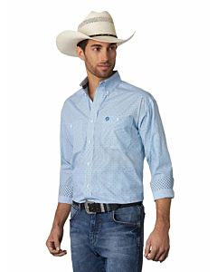 Men's 2 Pocket George Strait Long Sleeve Print Shirt