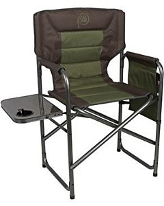 High Director Chair With Side Table - Green/Gray