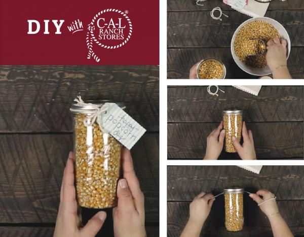 Super Easy Popcorn Gift Jars
