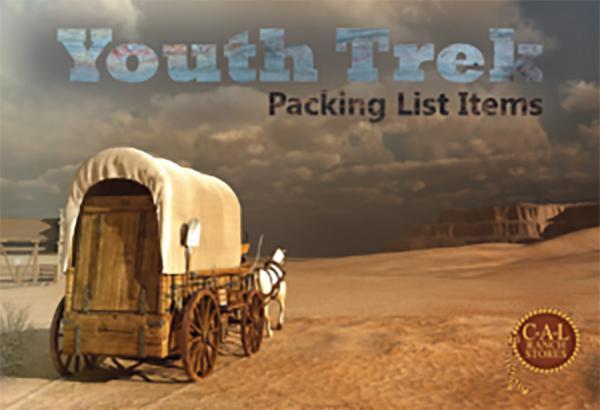 Pioneer Youth Trek Supply List